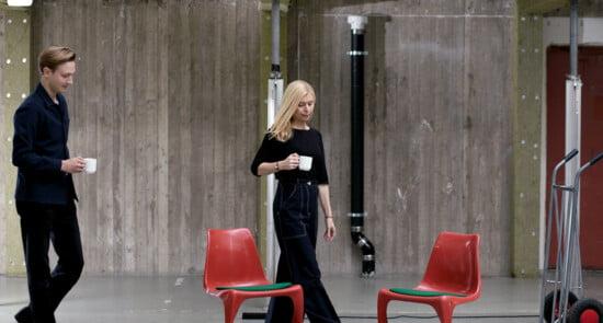 Organic Sweden members walking with coffee